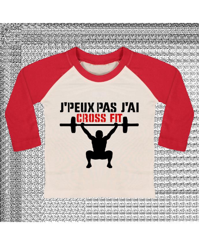 T-shirt Bébé Baseball Manches Longues J'peux pas j'ai Crossfit par tunetoo