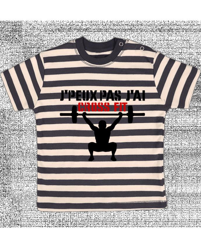 T-shirt Bébé à Rayures J'peux pas j'ai Crossfit par tunetoo