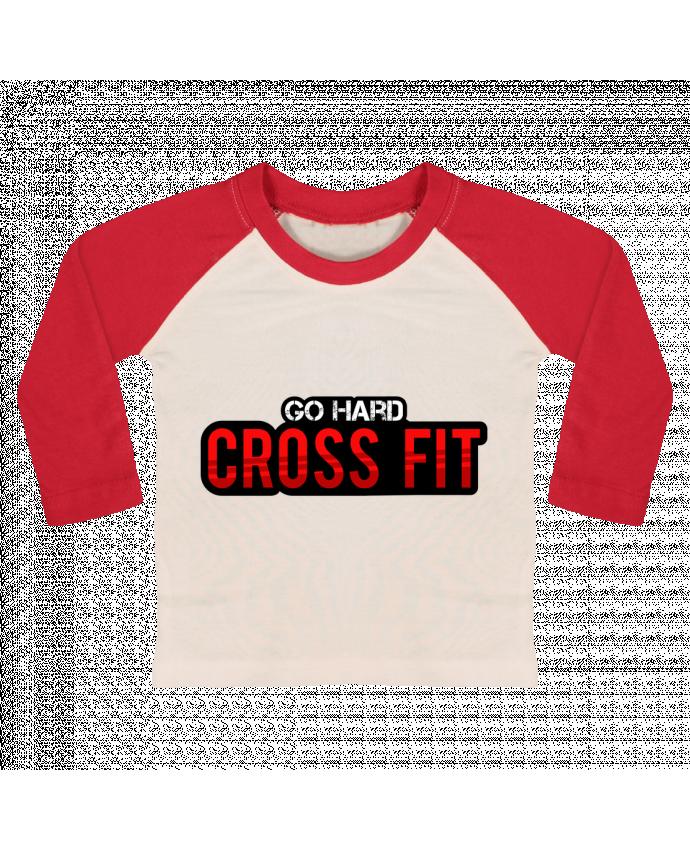T-shirt Bébé Baseball Manches Longues Go Hard ! Crossfit par tunetoo