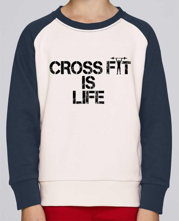 Sweat Shirt Col Rond Enfant Stanley Mini Contrast Crossfit is life par tunetoo