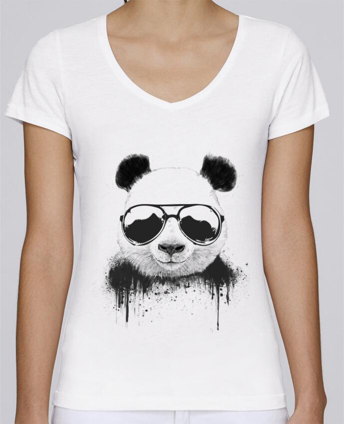 T-shirt Femme Col V Stella Chooses Stay Cool par Balàzs Solti