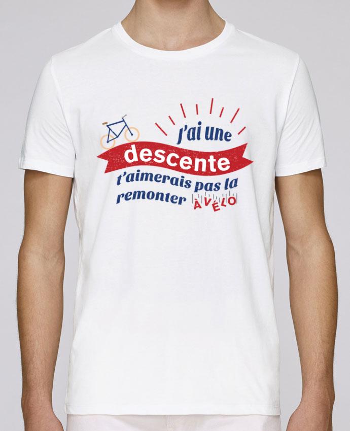 T-Shirt Col Rond Stanley Leads J'ai une descente t'aimerais pas la remonter à vélo par tunetoo