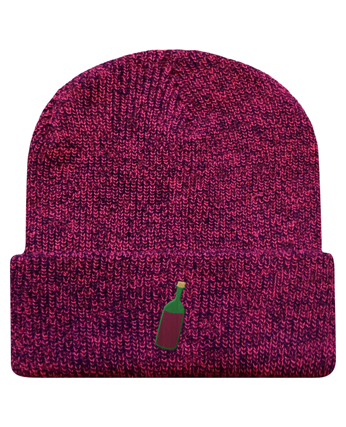 Bonnet Revers Beanie Héritage Wine bottle par tunetoo