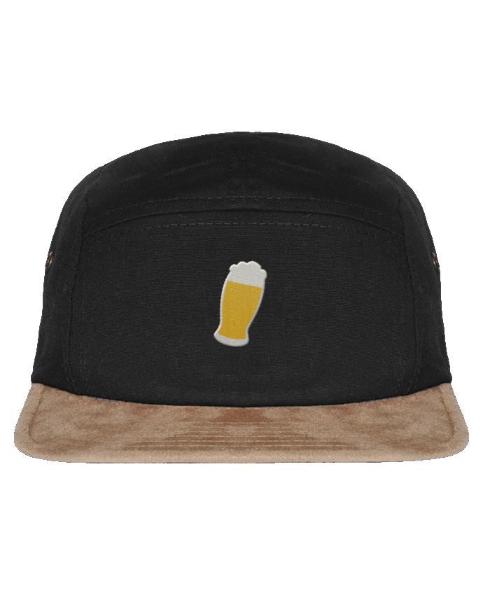 Casquette 5 Panneaux Visière Imitation Daim Beer par tunetoo