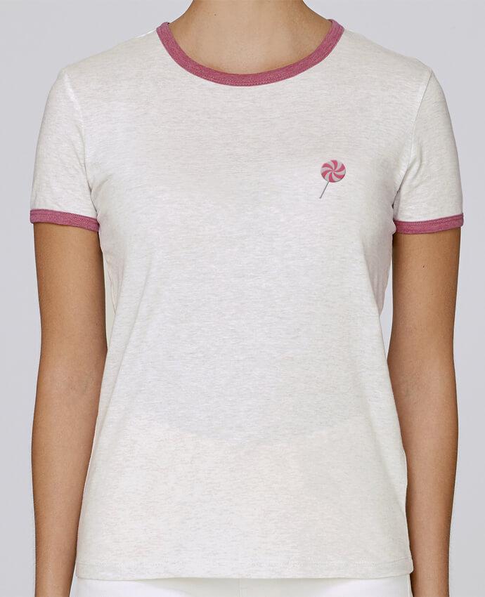 T-shirt Femme Stella Returns femme brodé Lollipop par tunetoo