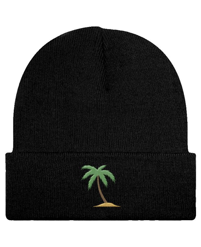 Bonnet Beanie à Revers Palm Tree par tunetoo