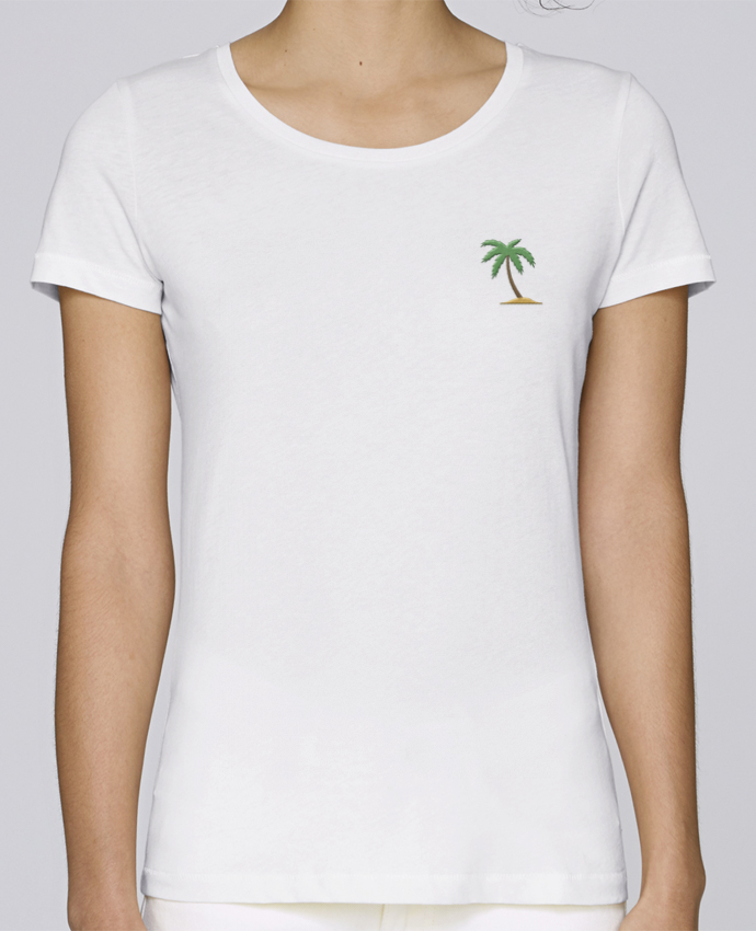 T-shirt  Femme Brodé Palm Tree par tunetoo