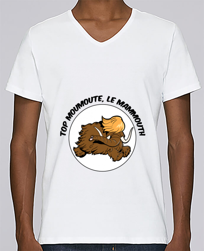 T-shirt Col V Homme Stanley Relaxes Top Moumoute le Mammouth par Tomi Ax - tomiax.fr