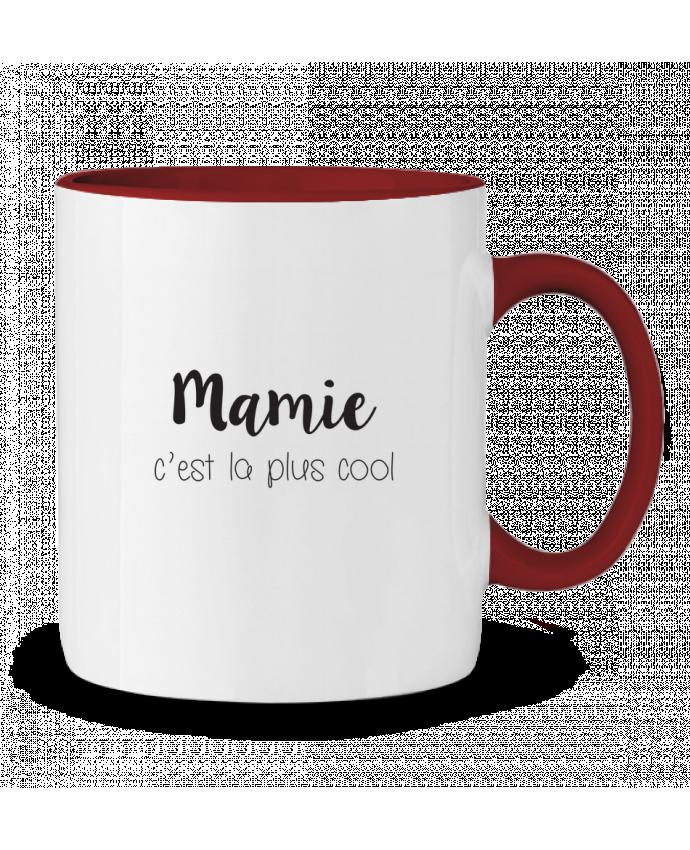 Mug en Céramique Bicolore Mamie c'est la plus cool Mila-choux