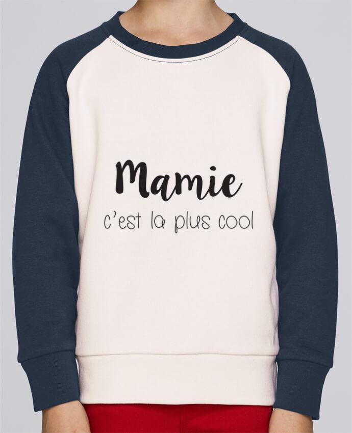 Sweat Shirt Col Rond Enfant Stanley Mini Contrast Mamie c'est la plus cool par Mila-choux