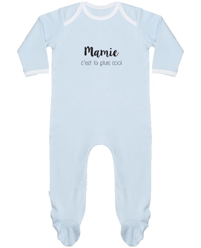 Pyjama Bébé Manches Longues Contrasté Mamie c'est la plus cool par Mila-choux