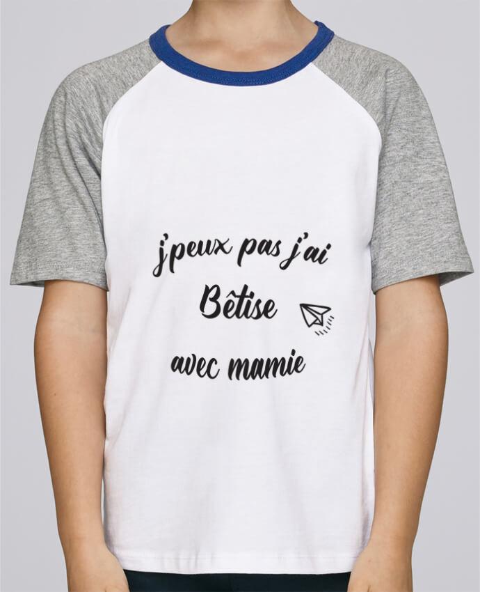 Tee-Shirt Enfant Stanley Mini Jump Short Sleeve jpeux pas j ai betise avec mamie par Mila-choux