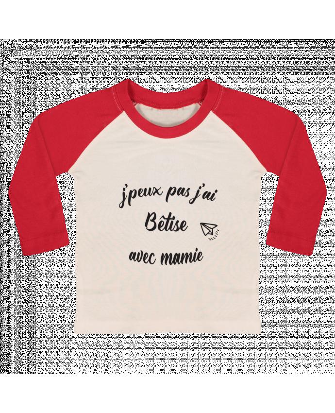 Tee-shirt Bébé Baseball ML jpeux pas j ai betise avec mamie par Mila-choux