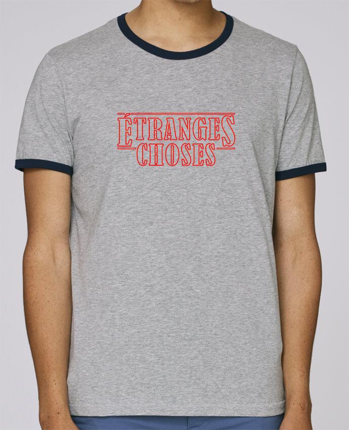T-Shirt Ringer Contrasté Homme Stanley Holds Etranges choses pour femme par Ruuud