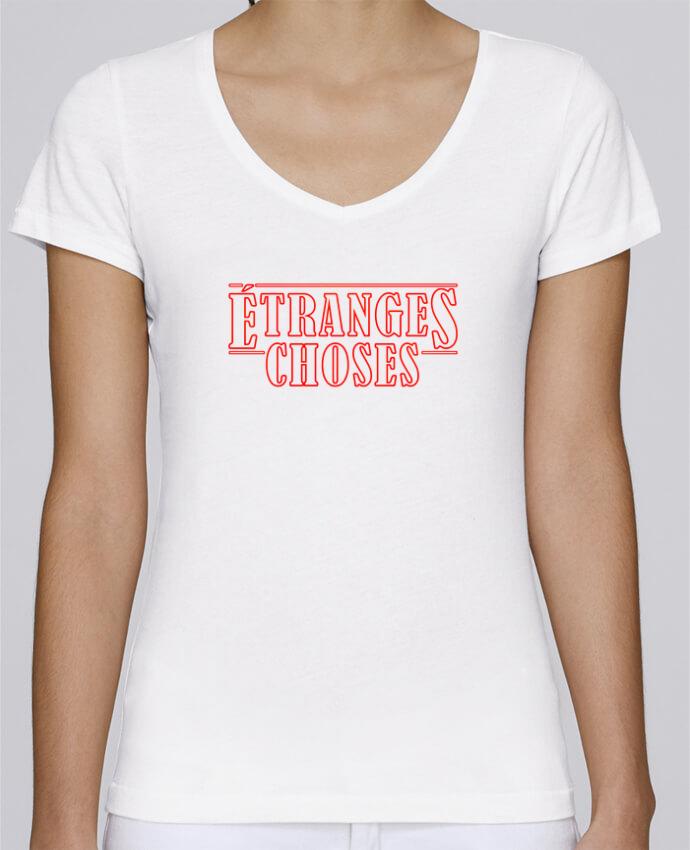 T-shirt Femme Col V Stella Chooses Etranges choses par Ruuud