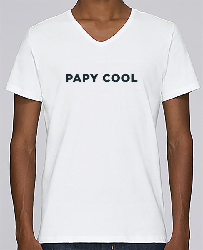 T-shirt Col V Homme Stanley Relaxes Papy cool par Ruuud