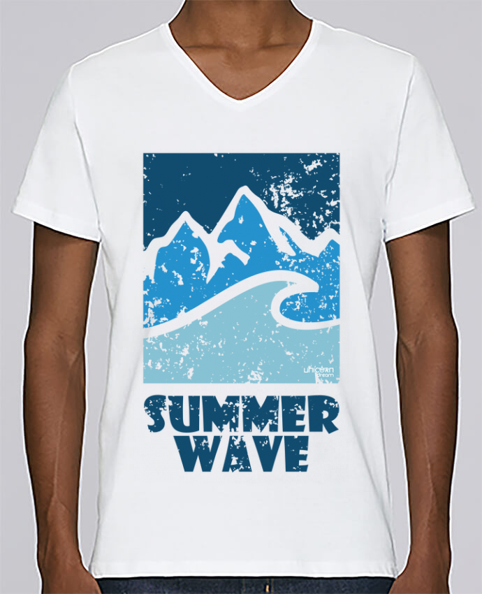 T-shirt Col V Homme Stanley Relaxes SummerWAVE-02 par Marie