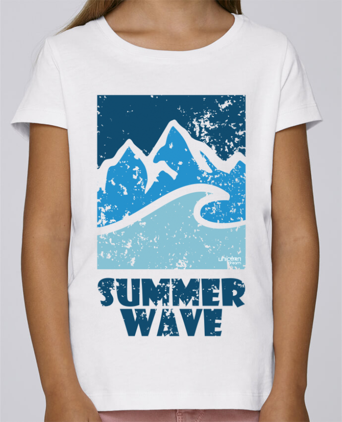 T-shirt Fille Mini Stella Draws SummerWAVE-02 par Marie
