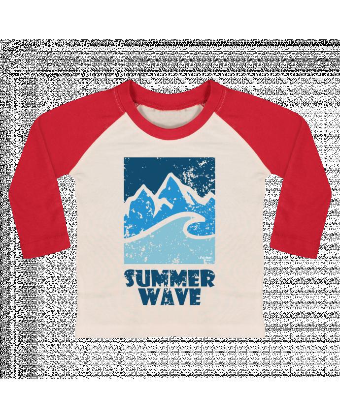 T-shirt Bébé Baseball Manches Longues SummerWAVE-02 par Marie