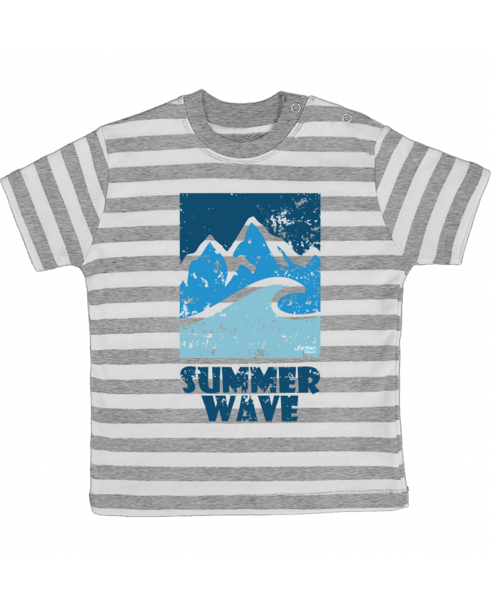 T-shirt Bébé à Rayures SummerWAVE-02 par Marie