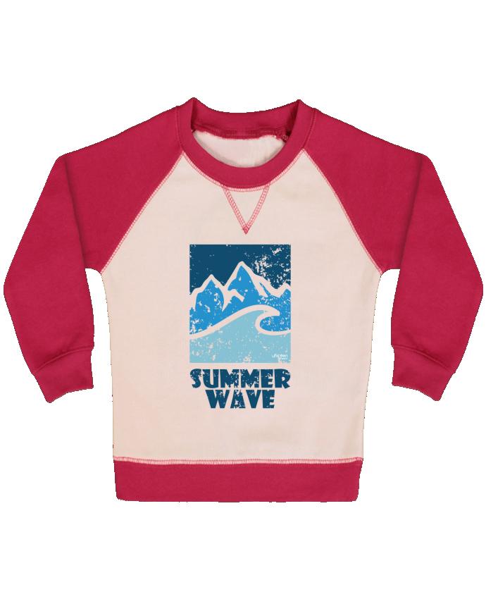 Sweat Shirt Bébé Col Rond Manches Raglan Contrastées SummerWAVE-02 par Marie