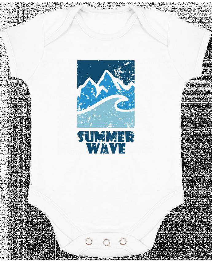 Body bébé manches contrastées SummerWAVE-02 par Marie
