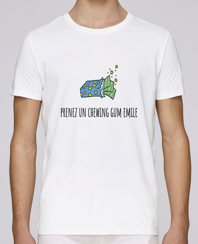 T-Shirt Col Rond Stanley Leads Prenez un chewing gum Emile, citation film la cité de la peur. par Mlle Coco