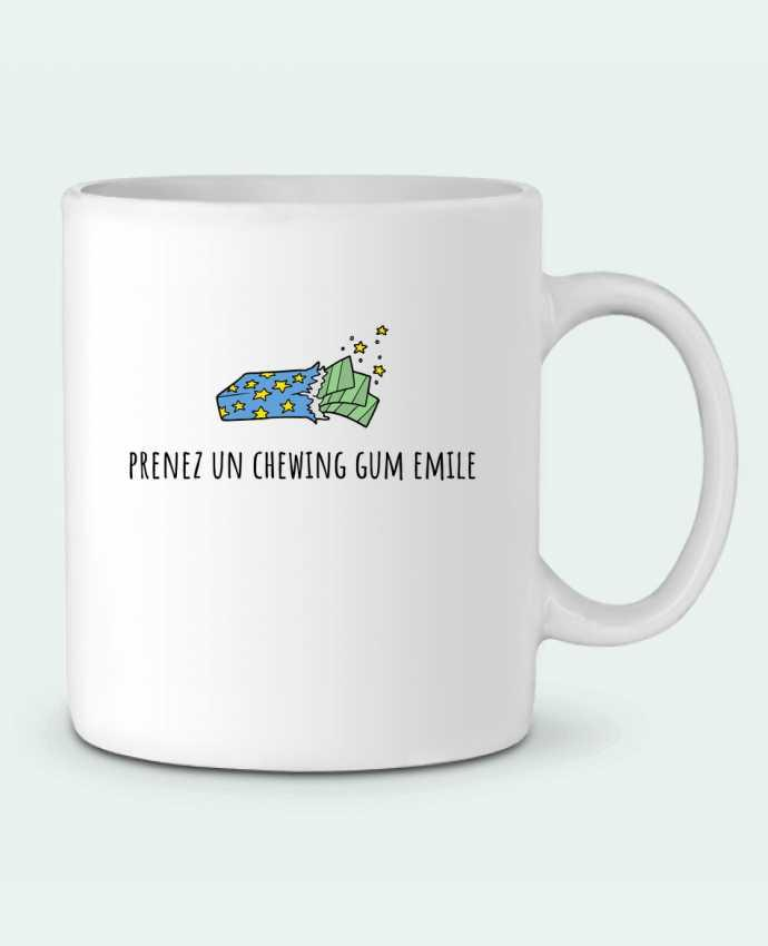 Mug en Céramique Prenez un chewing gum Emile, citation film la cité de la peur. par Mlle Coco