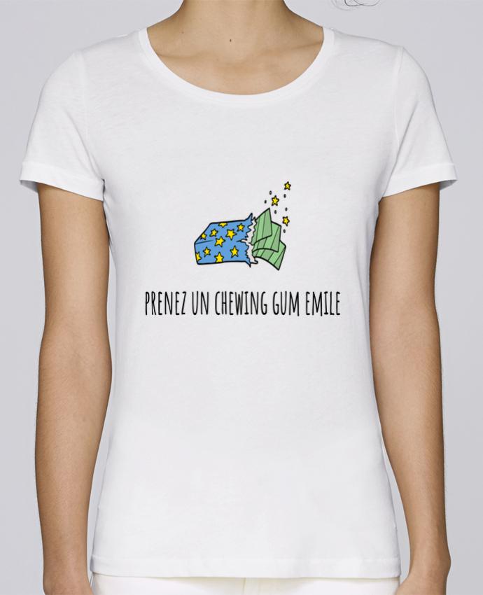 T-shirt Femme Stella Loves Prenez un chewing gum Emile, citation film la cité de la peur. par Mlle Coco