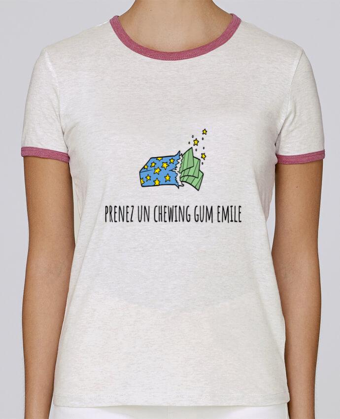 T-shirt Femme Stella Returns Prenez un chewing gum Emile, citation film la cité de la peur. pour femme par Mlle Coco