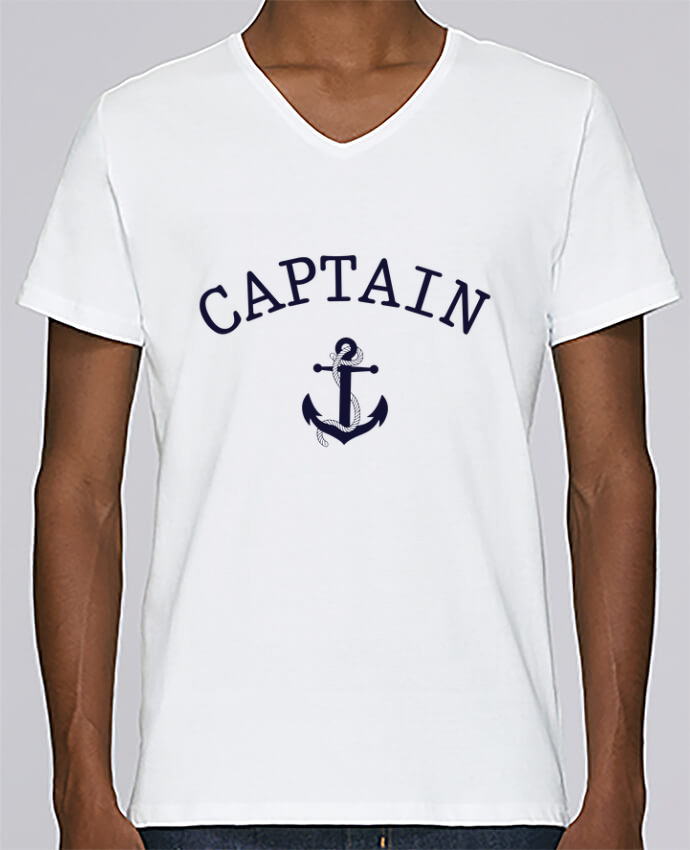 T-shirt Col V Homme Stanley Relaxes Capitain and first mate par tunetoo
