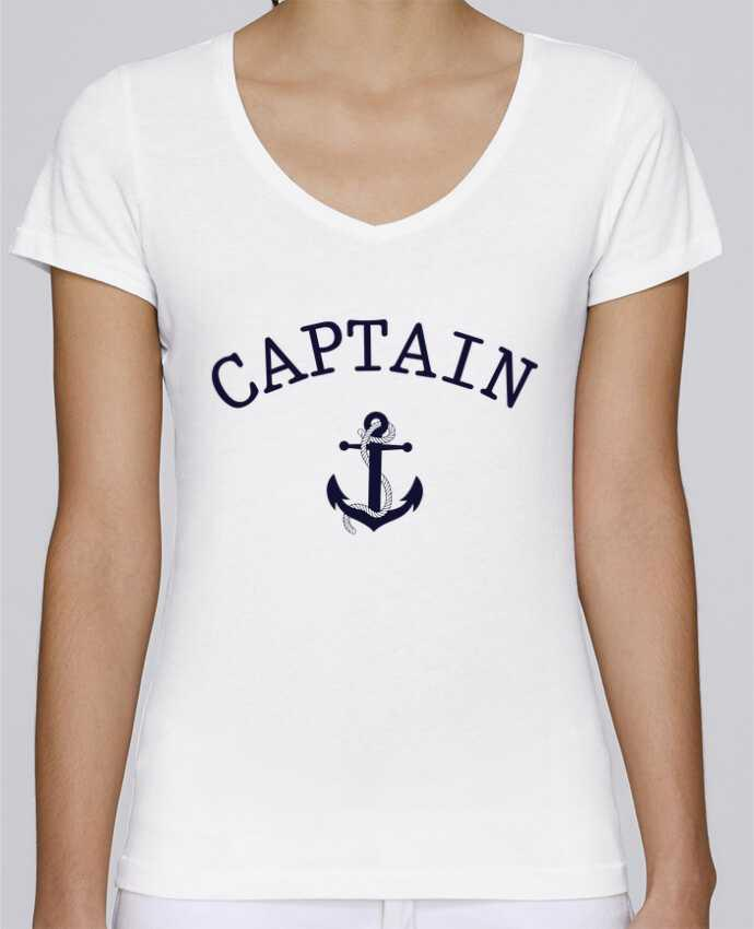 T-shirt Femme Col V Stella Chooses Capitain and first mate par tunetoo