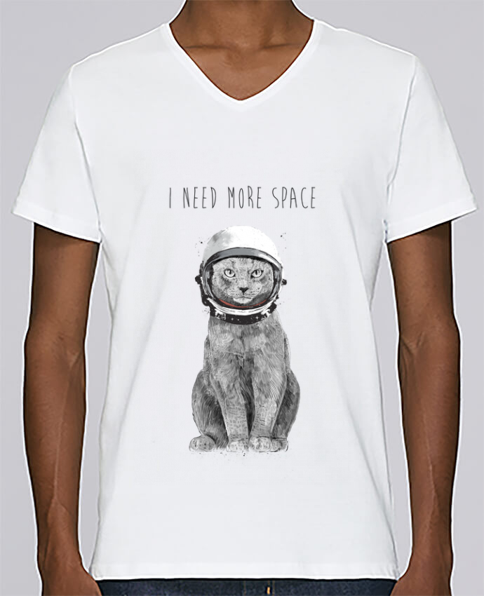 T-shirt Col V Homme Stanley Relaxes I need more space par Balàzs Solti