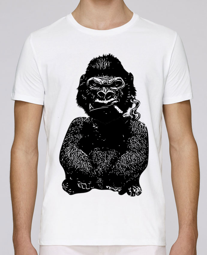 T-Shirt Col Rond Stanley Leads Gorille par David