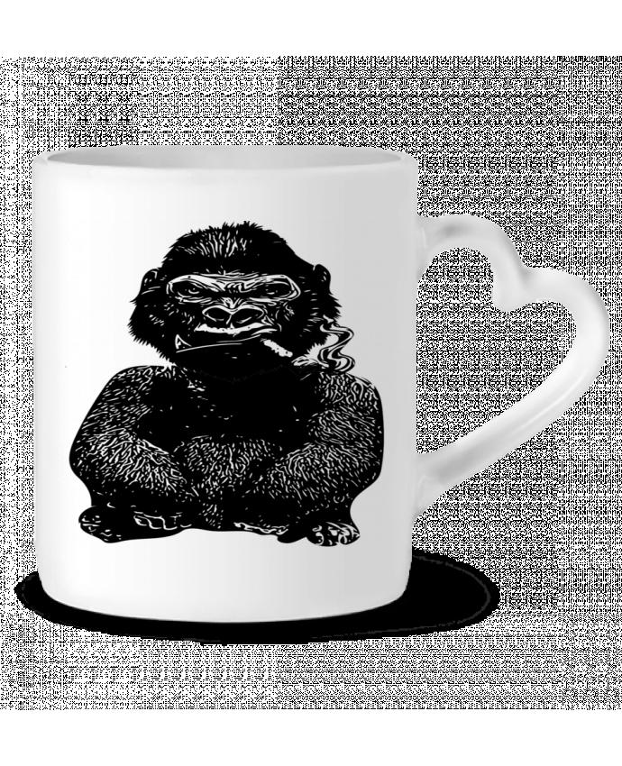 Mug Coeur Gorille par David