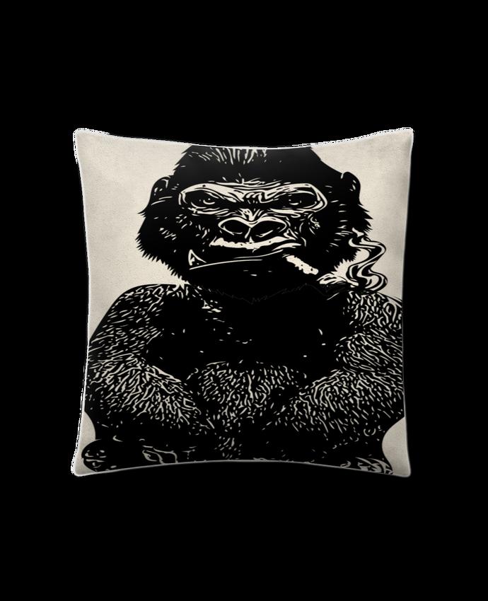Coussin suédine Gorille par David