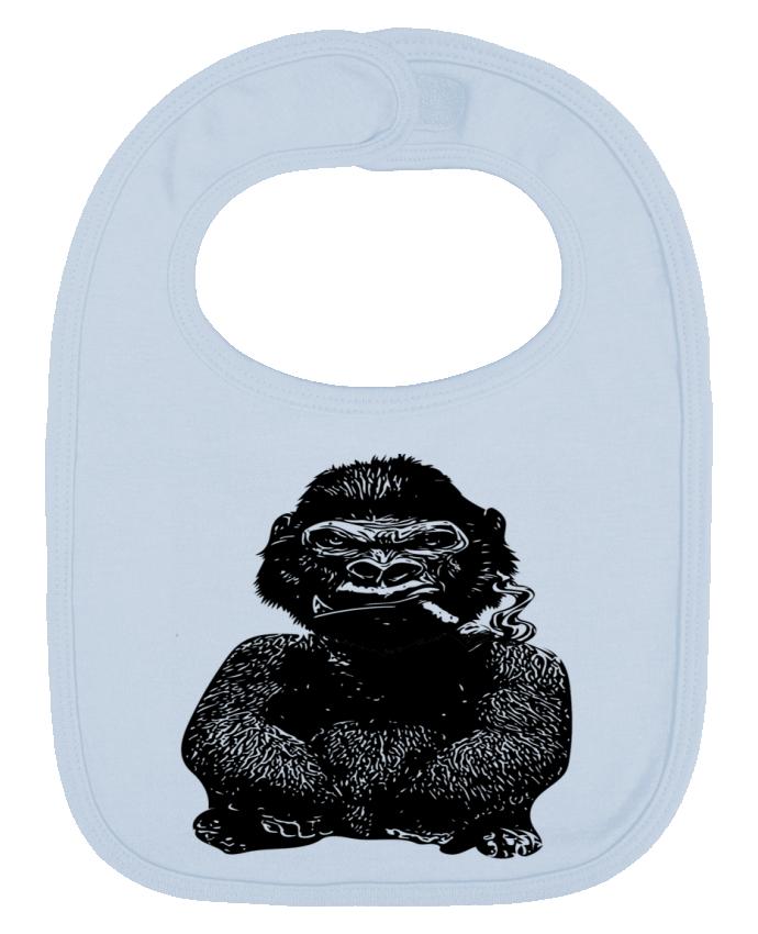 Bavoir Uni et Contrasté Gorille par David