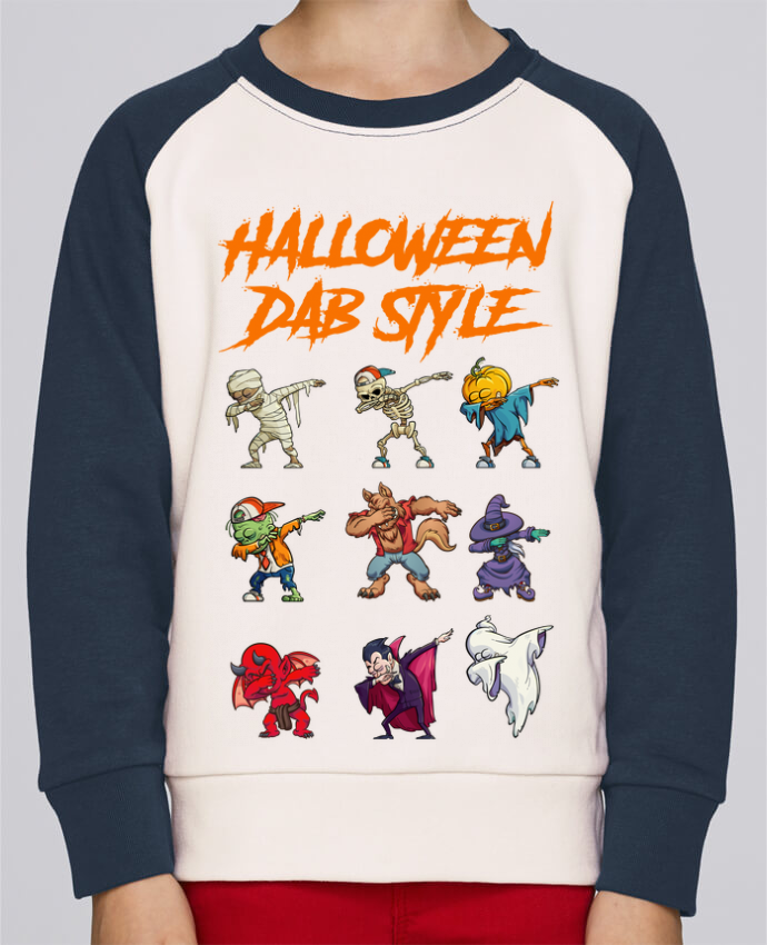 Sweat Shirt Col Rond Enfant Stanley Mini Contrast HALLOWEEN DAB STYLE par fred design