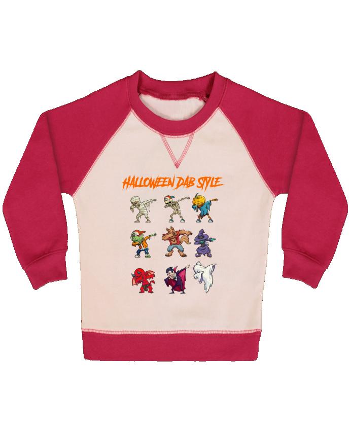 Sweat Shirt Bébé Col Rond Manches Raglan Contrastées HALLOWEEN DAB STYLE par fred design