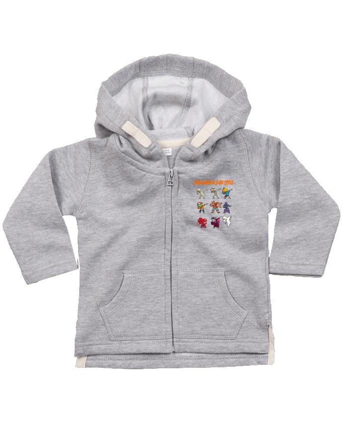 Sweat Bébé Zippé à Capuche HALLOWEEN DAB STYLE par fred design