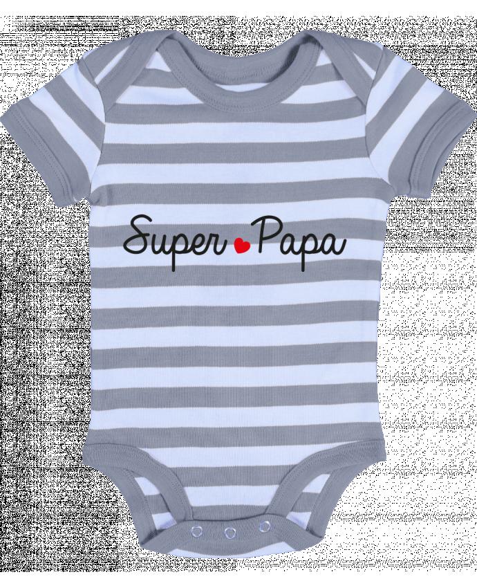 Body Bébé à Rayures Super Papa - Nana
