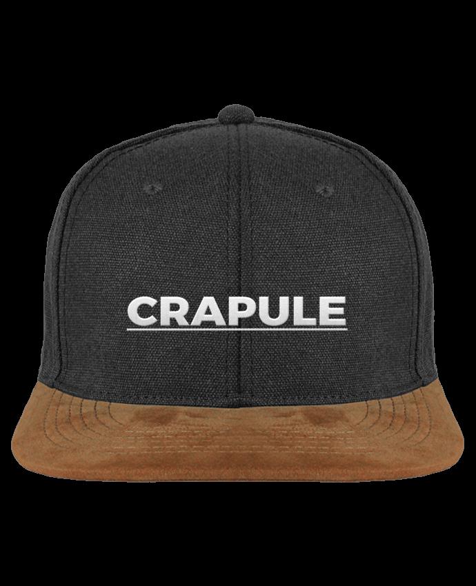 Casquette snapback visière Daim Crapule brodé. Toile en coton délavée en Denim Blue ou Vintage Black