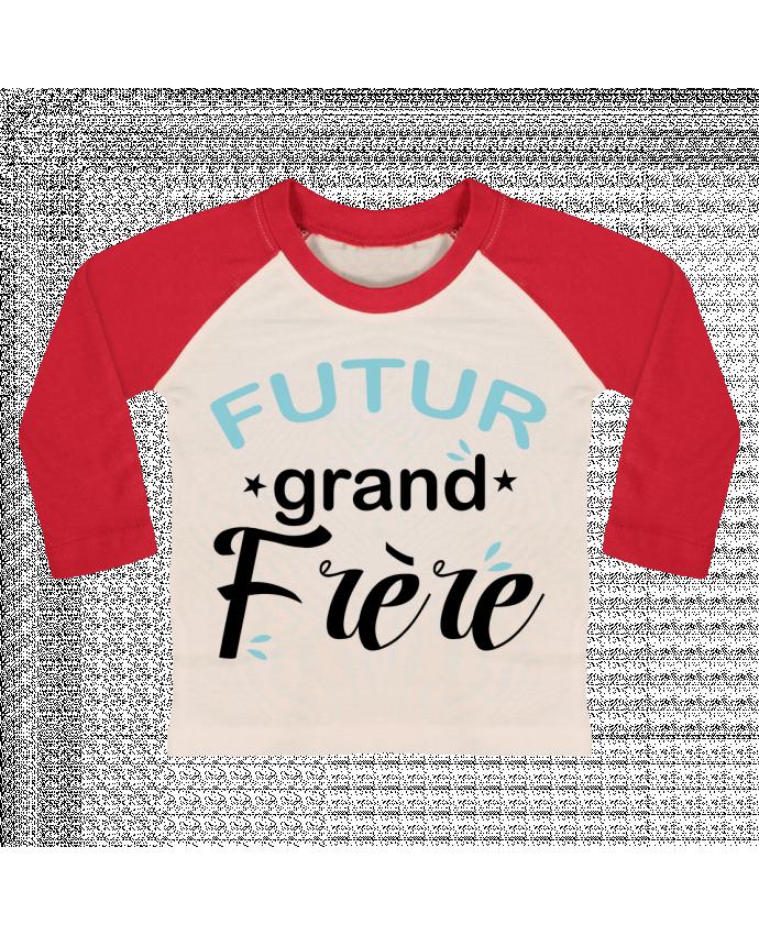 T-shirt Bébé Baseball Manches Longues Futur grand frère par Loni Tee