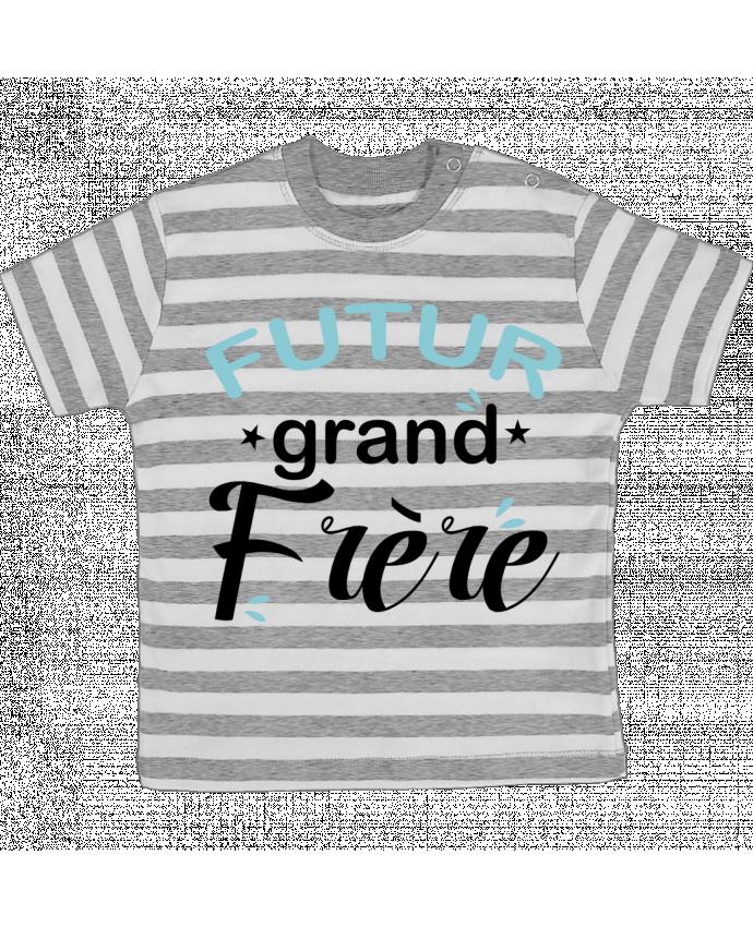T-shirt Bébé à Rayures Futur grand frère par Loni Tee