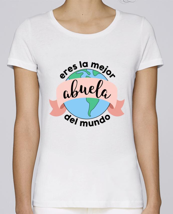 T-shirt Femme Stella Loves Eres la mejor abuela del mundo par tunetoo