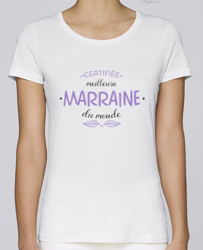 T-shirt Femme Stella Loves Certifiée meilleure marraine du monde par tunetoo