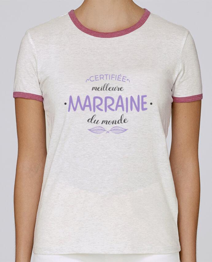 T-shirt Femme Stella Returns Certifiée meilleure marraine du monde pour femme par tunetoo