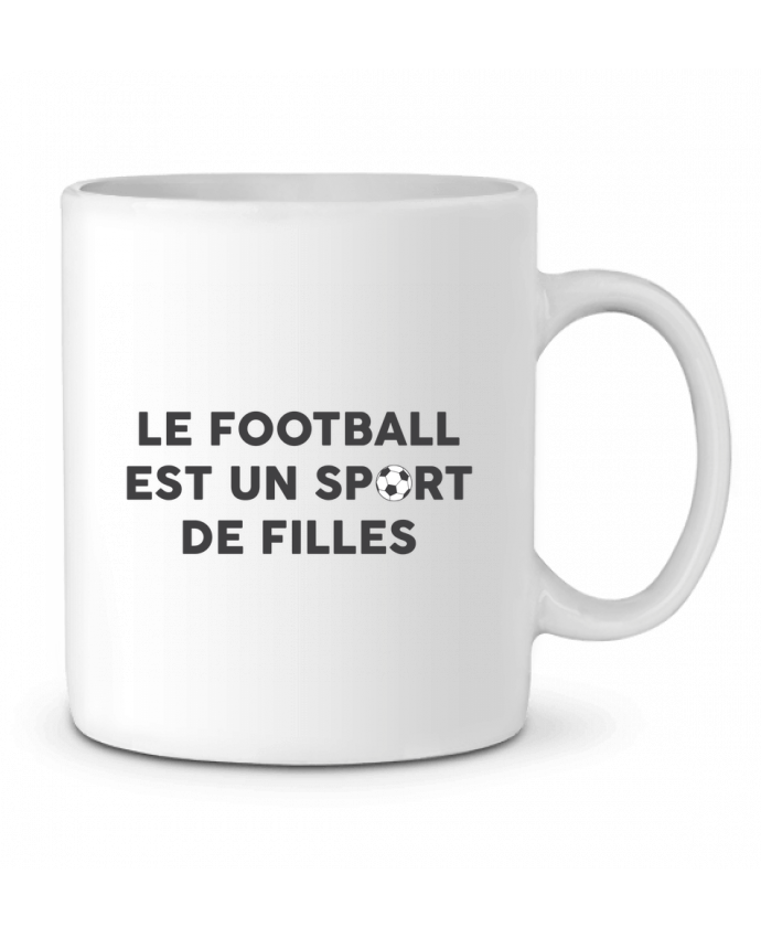 Mug en Céramique Le football est un sport de filles par tunetoo