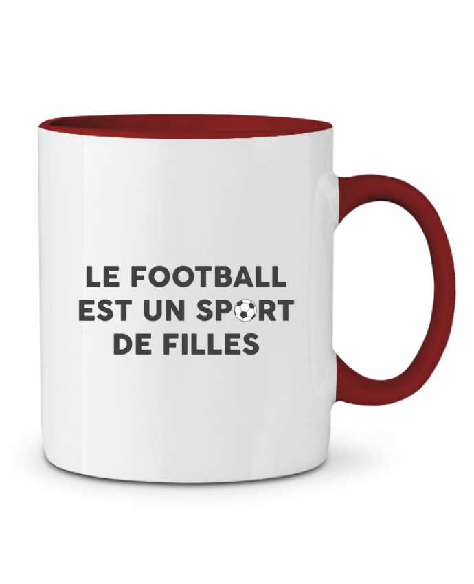 Mug en Céramique Bicolore Le football est un sport de filles tunetoo