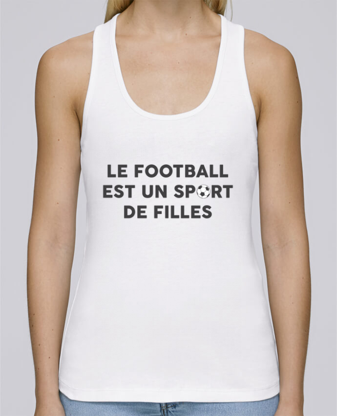 Débardeur bio femme Stella Dreams Le football est un sport de filles par tunetoo en coton Bio